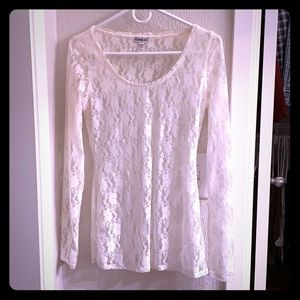 Express Cream Lace Top.